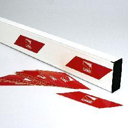 Стрела прямоугольная 001G0601 алюминиевая 100х40х6850мм