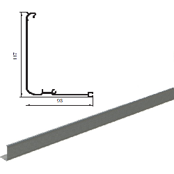 """AHDS35 2009BP/M Профиль алюм. """"Крышка привода AD-SP"""" без покрытия"""