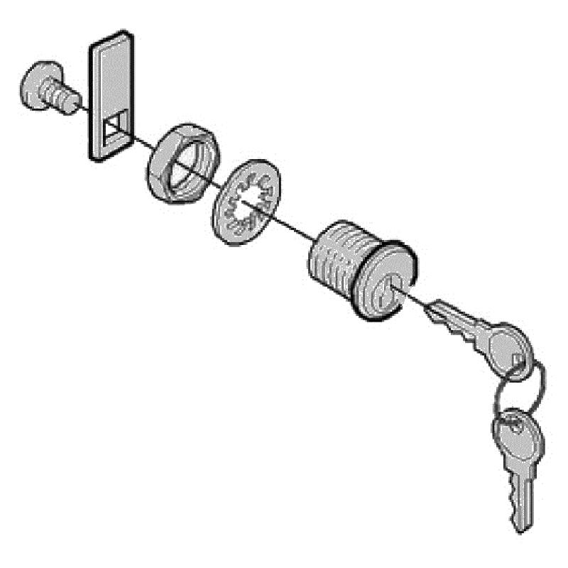 CAME 119RIG213 замок дверцы G2500 G4000
