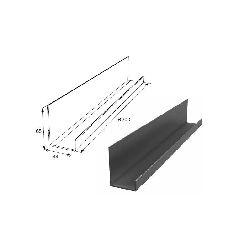 Алюминиевый профиль П-образный неравнополочный для проема калитки DHSW-00300/M L=6200mm