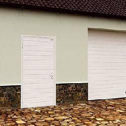 Дверь DoorHan/980/2050/УЛЬТРА(B)/525/9003доска/9003 доска/правая/с угловой рамой/серебро/ключ-ключ