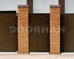 Комплект стандартный №1 калитки 1050х2100 коричневый RAL8014