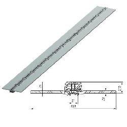 8003902U/M Петля калиточная алюминиевая усиленная коричневый муар L=2500mm