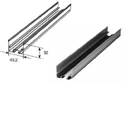 Профиль нижний стальной для гаражных секционных ворот Y42S