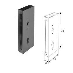 SPV0100 Профиль увеличенный с заклепкой под замок