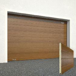 Ворота секционные серии RSD01SС №15 ширина 2500 высота 2515 доска, золотой дуб